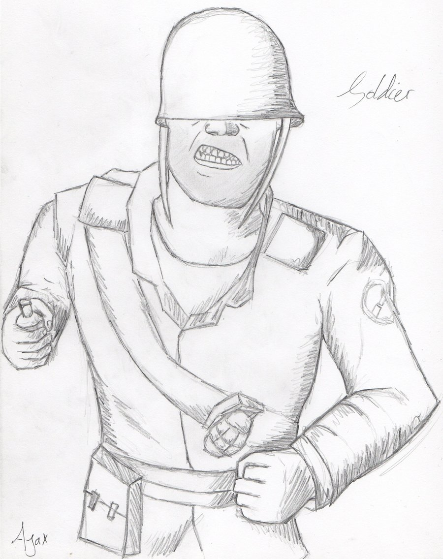 900x1136 Tf2 Soldier Drawing By Vyvyan1rick