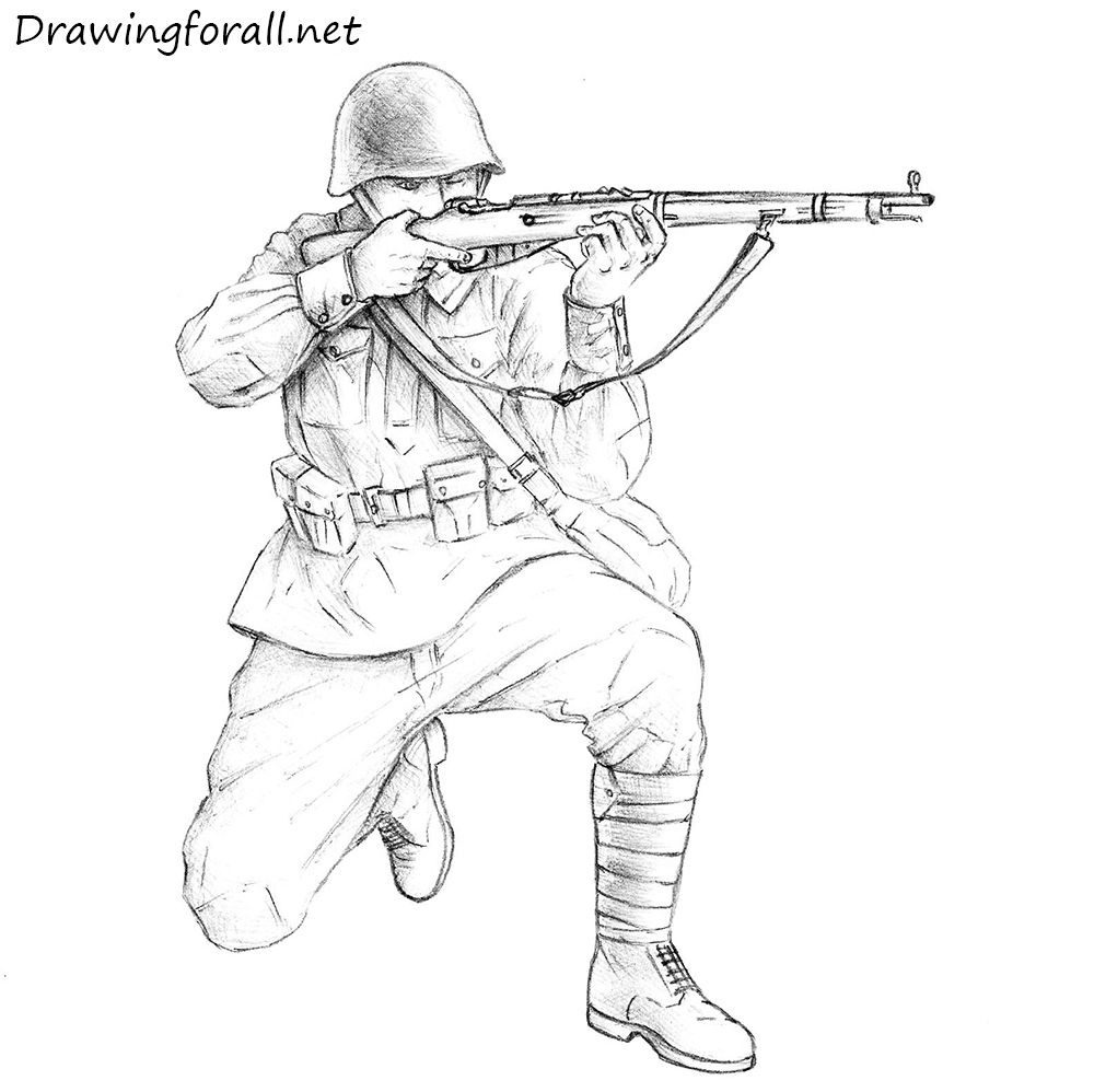 1000x998 How To Draw A Soviet Soldier Drawing Tutorials Step By Step