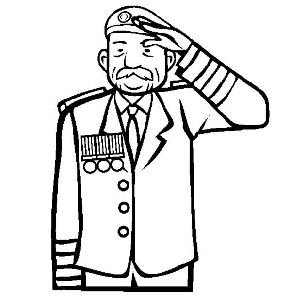how to draw a soldier saluting step by step