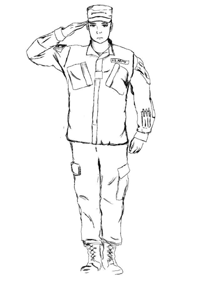 665x900 My Digital Drawing Of A National Guard Soldier. Feel Free To Share