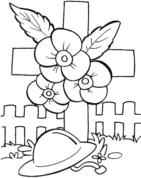 600x758 Poppy Coloring Page Remembrance Day Remembrance Day Poppies
