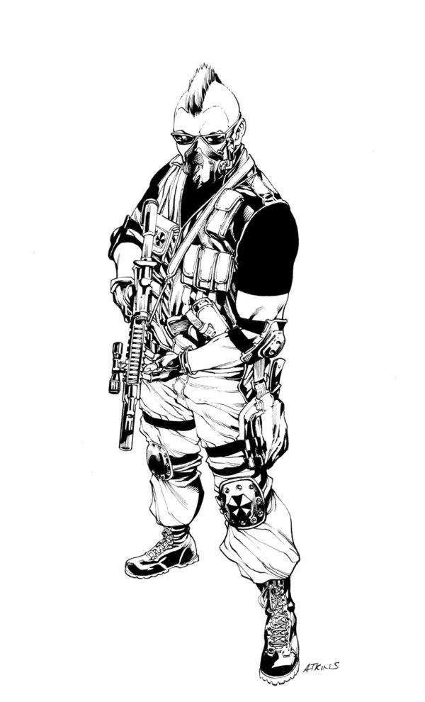 600x990 Resident Evil Umbrella Soldier Sotd By Robertatkins