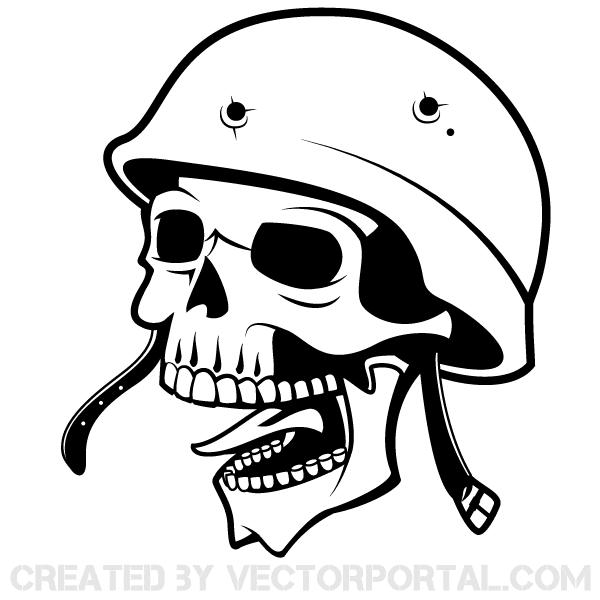 600x600 Soldier Skull With Helmet Vector Art 123freevectors