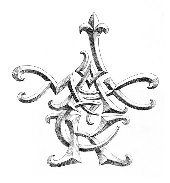 648x695 Artistic Monograms