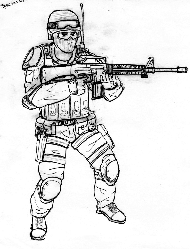 800x1049 Special Ops Soldier By Crashybandicoot