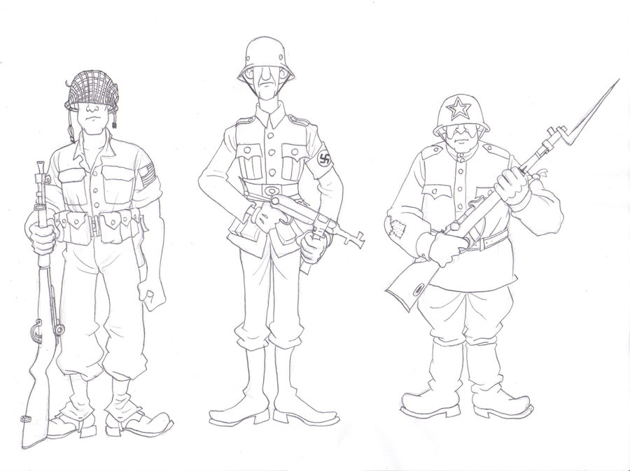 900x673 Stereotypical Soldiers By Angusburgers