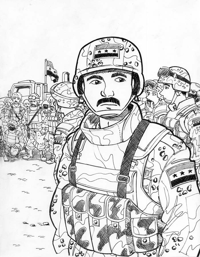 700x899 The Iraqi Soldiers By Avary Freedom