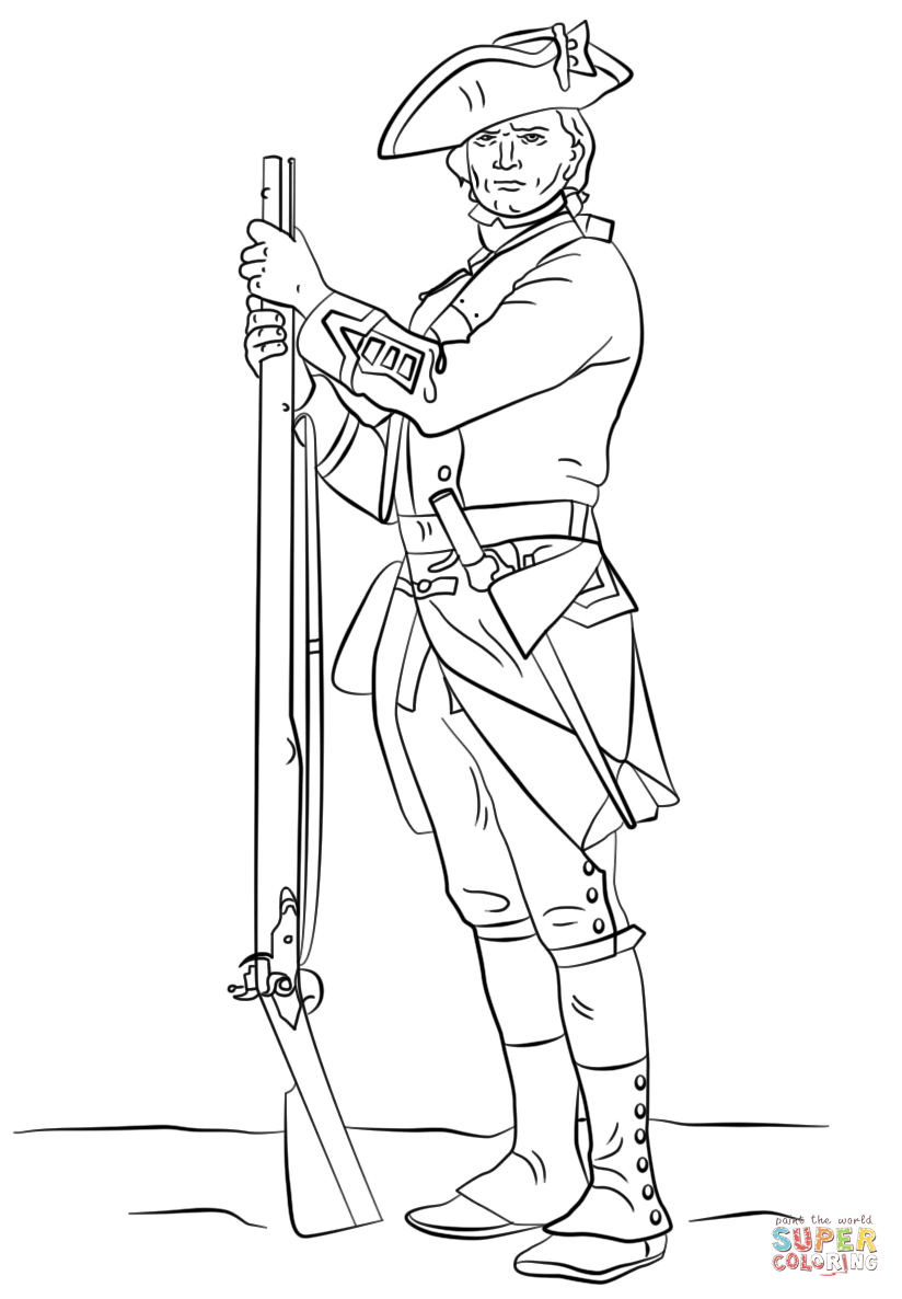 824x1186 British Revolutionary War Soldier Coloring Page Free Printable