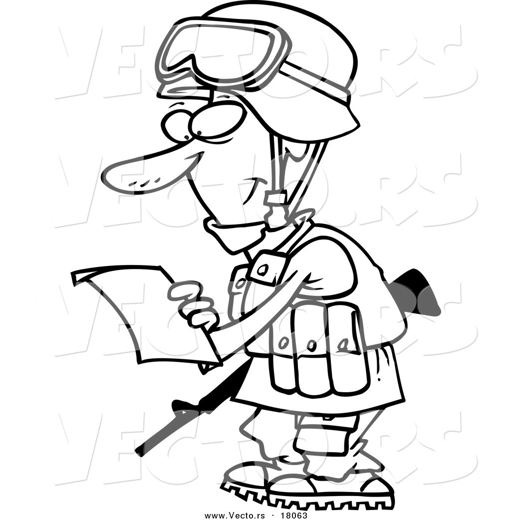 1024x1044 Vector Of A Cartoon Soldier Reading A Letter