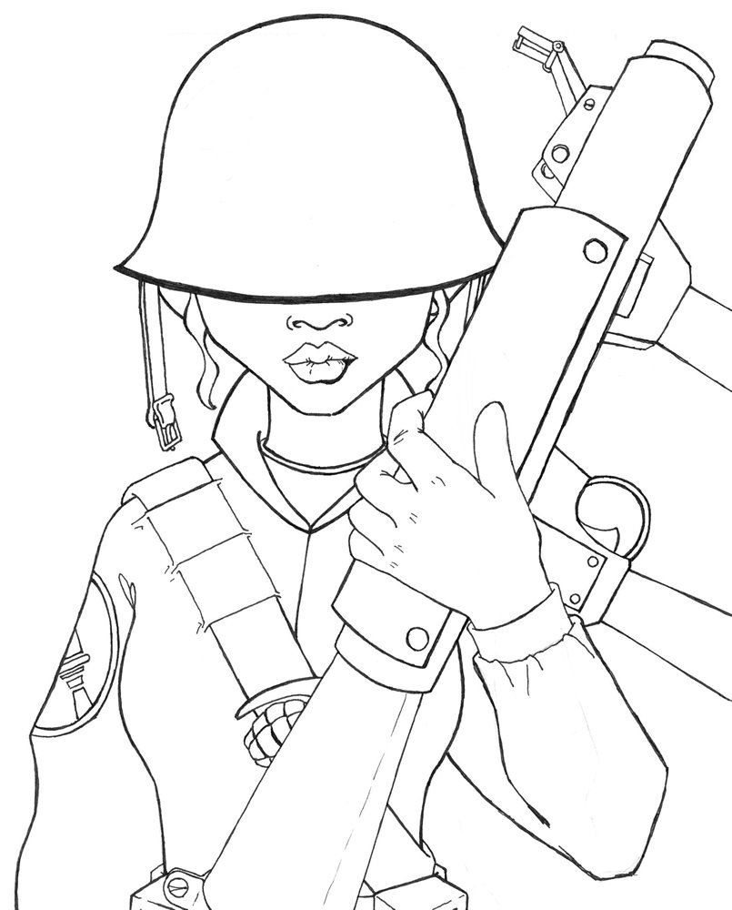 805x1000 Female Soldier Tf2 By Kikai7