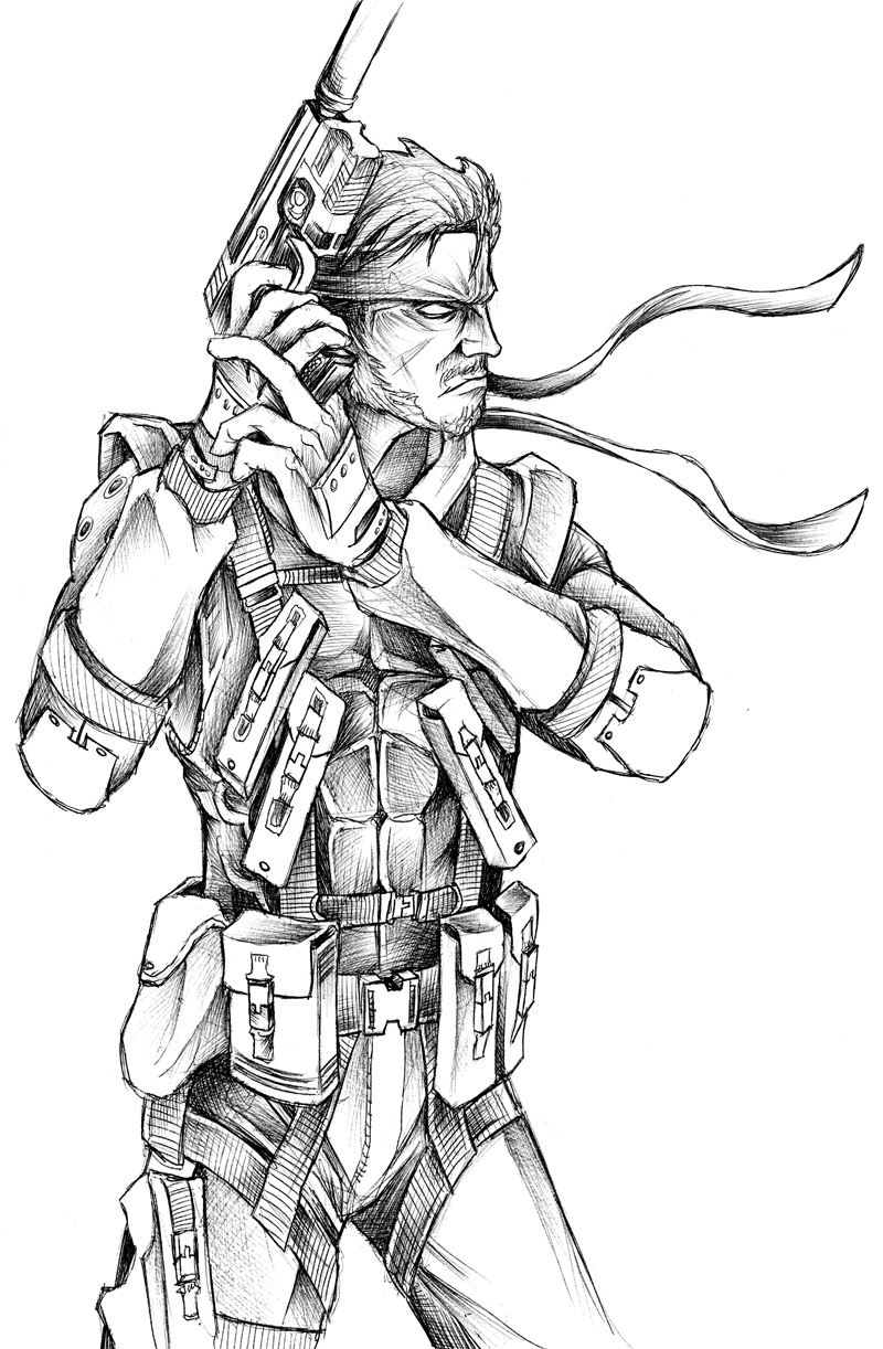 800x1222 Solid Snake By Jeffyp
