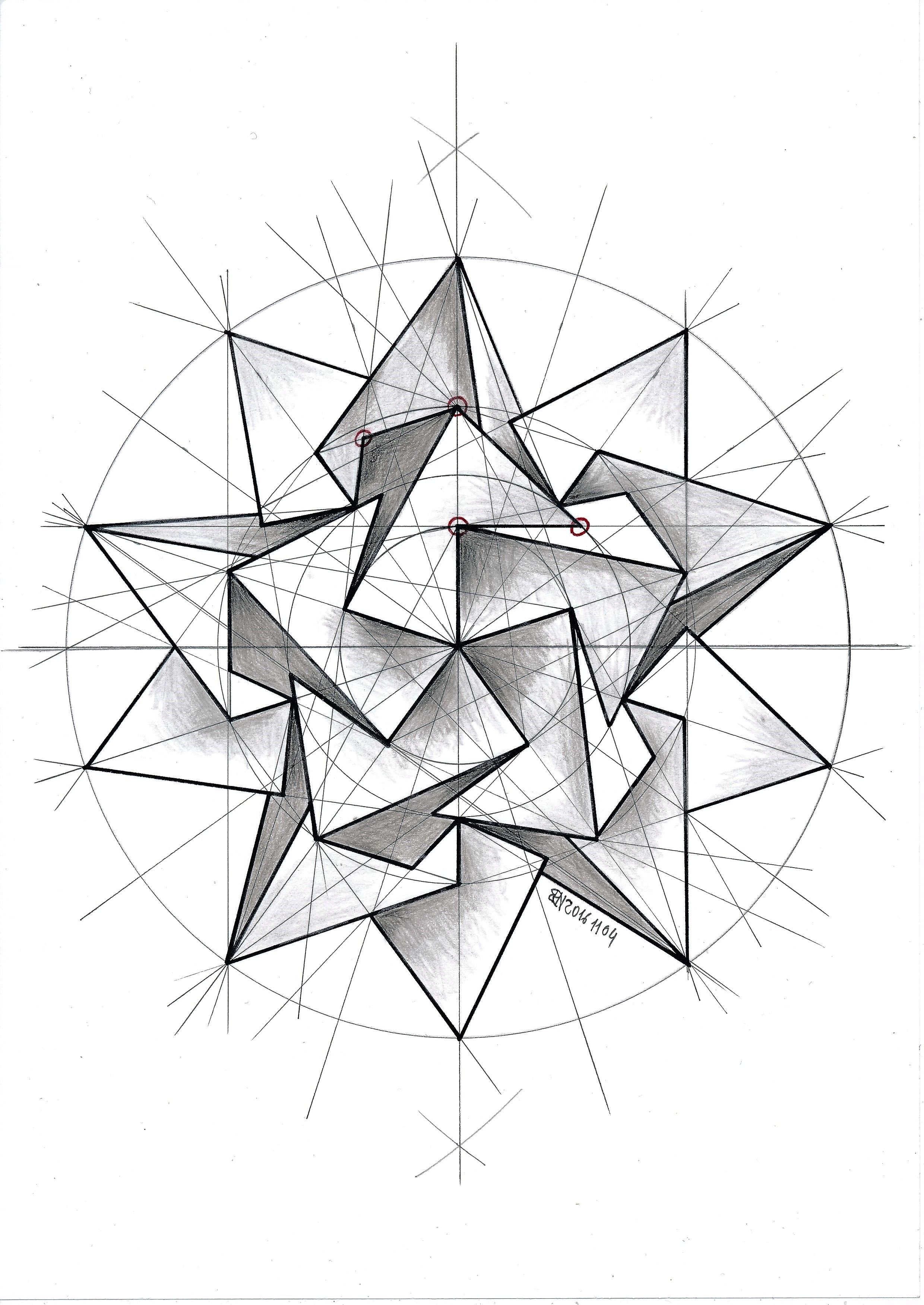 2480x3500 Polyhedra Doodles Solid Geometry, Patterns And Tattoo