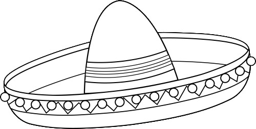 Sombrero Drawing at GetDrawings.com | Free for personal use Sombrero ...