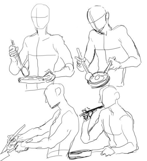 500x548 How To Draw Someone Cooking Poses, References Https