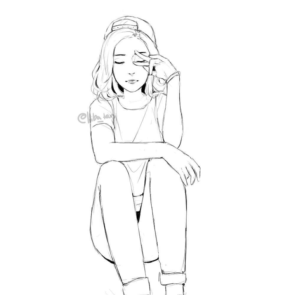 1000x1000 Sketch With Photoref Someone Passed A Cold On To Me Again Ugh I'Ve
