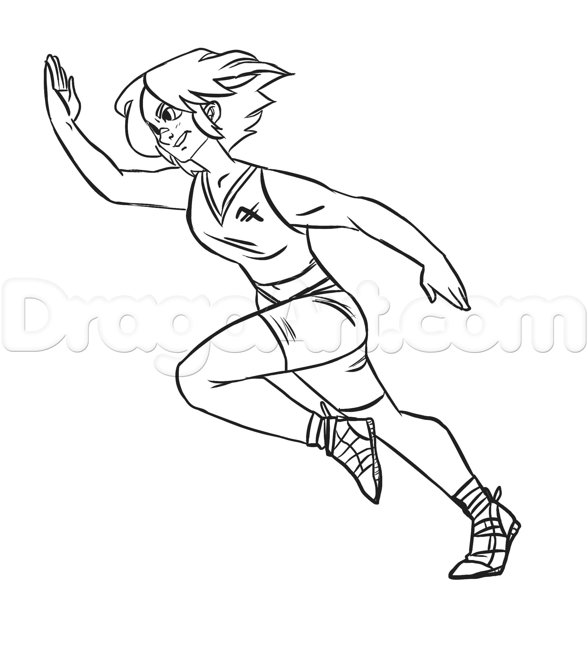2052x2283 Someone Running Drawing How To Draw A Running Person, Stepstep