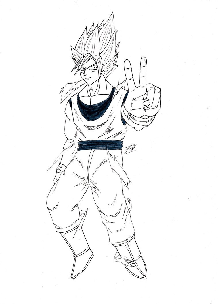 Son Goku Drawing