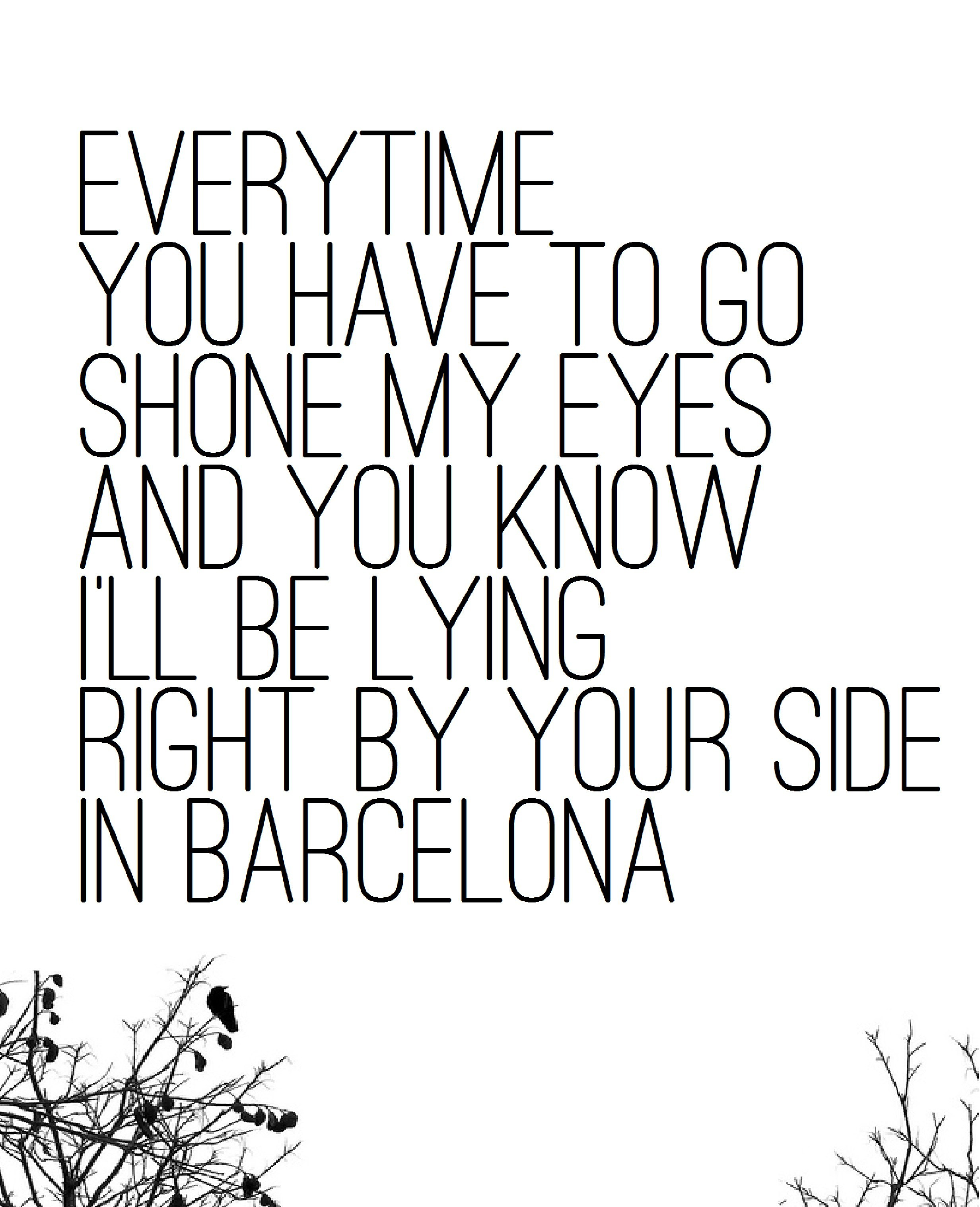 2464x3032 Meaningful Drawings Song Lyrics Lovely Barcelona By George Ezra My