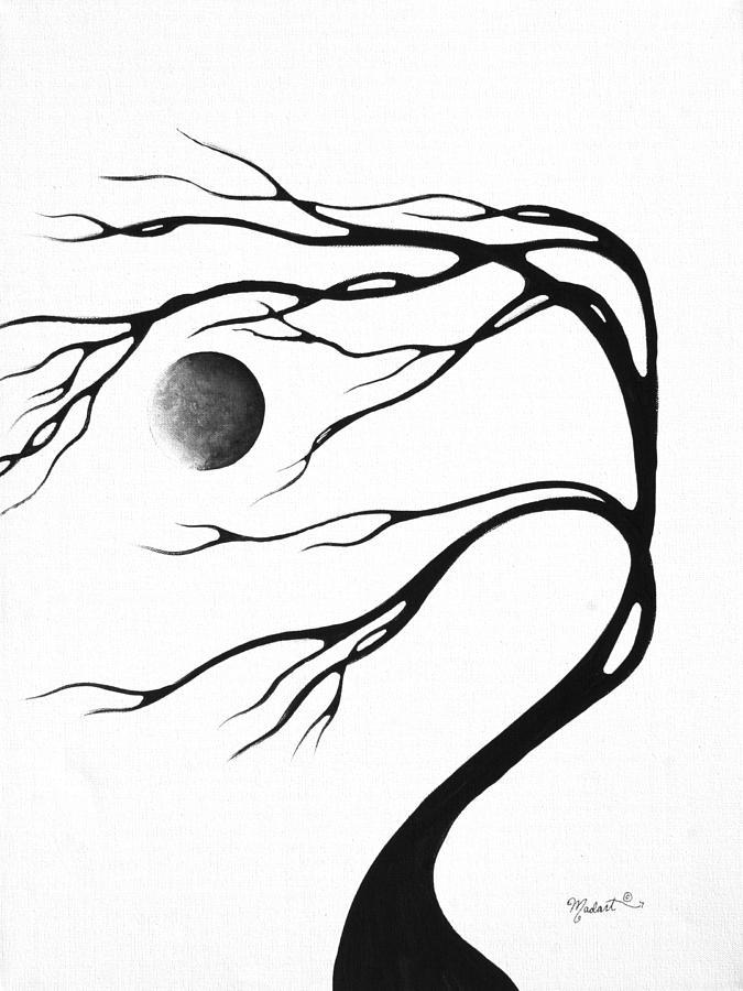 675x900 Abstract Art Original Decorative Painting Moon Song By Madart