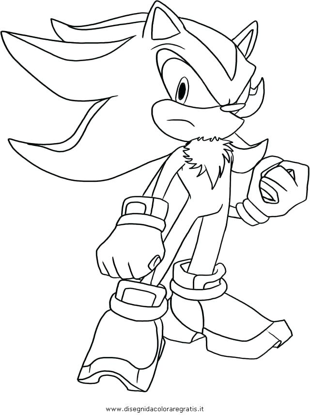 640x860 Shadow Sonic Coloring Pages Best Shadow The Hedgehog Coloring