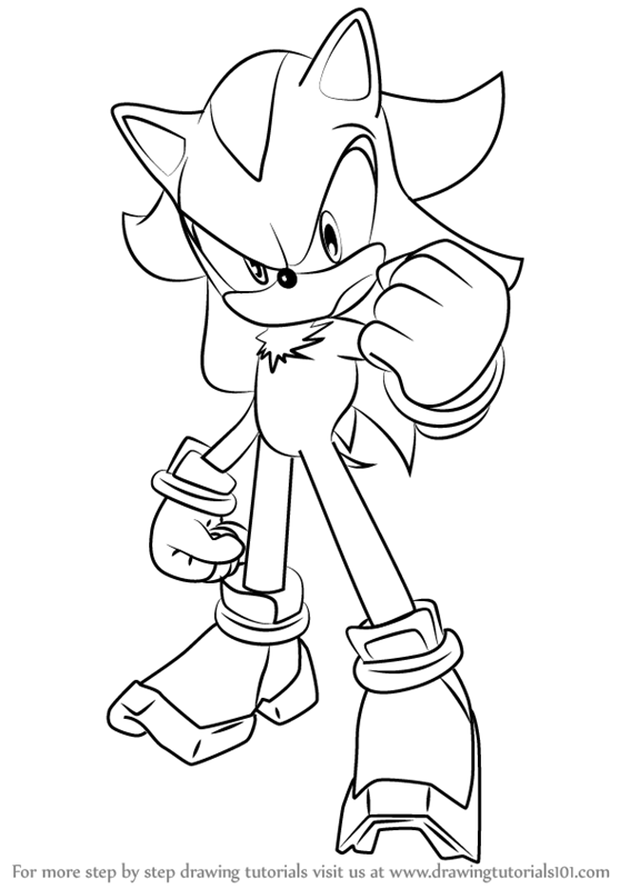 567x800 Learn How To Draw Shadow The Hedgehog From Sonic The Hedgehog