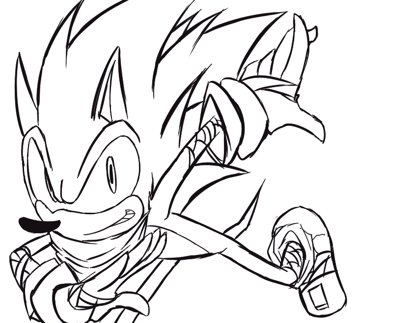 839x659 Sonic Boom Free Color By Zyawaii
