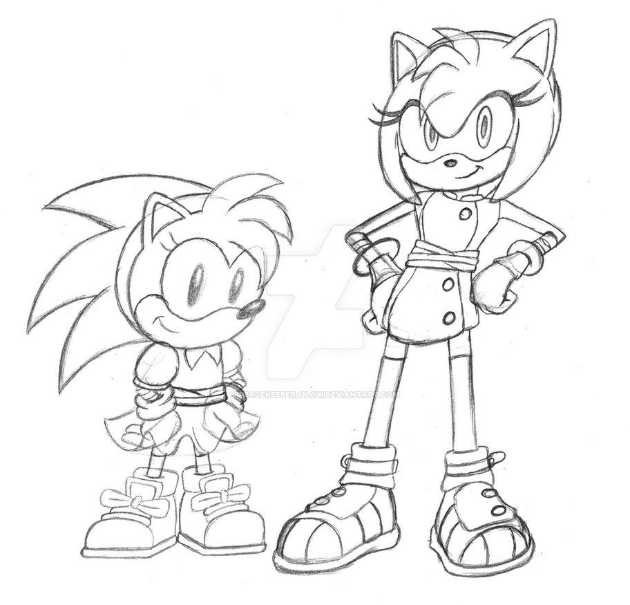 912x875 Sonic Boom Generation (Amy Sketch) By Peacekeeperj3low