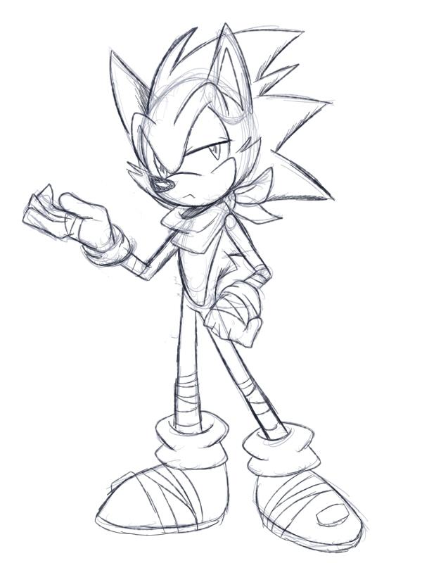 600x800 Sonic Boom Sketch By Wishesareeternal