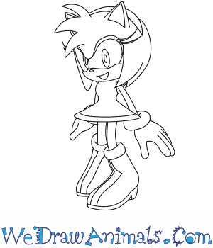 300x350 How To Draw Amy Rose From Sonic The Hedgehog