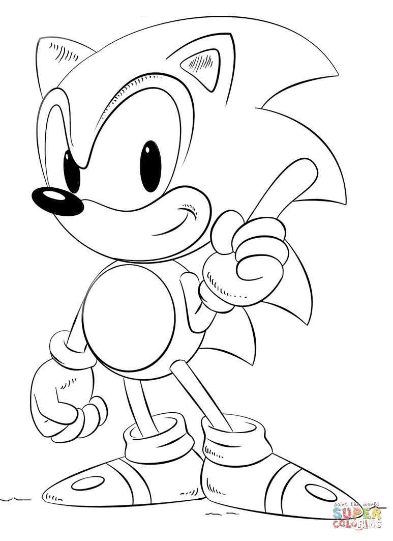 773x1063 Sonic The Hedgehog Coloring Page Free Printable Coloring Pages
