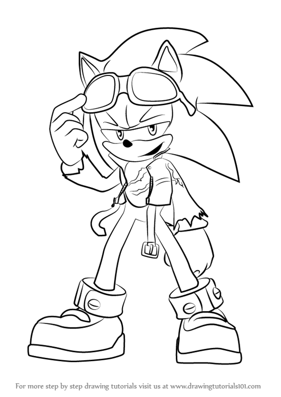 566x800 Learn How To Draw Scourge The Hedgehog From Sonic The Hedgehog