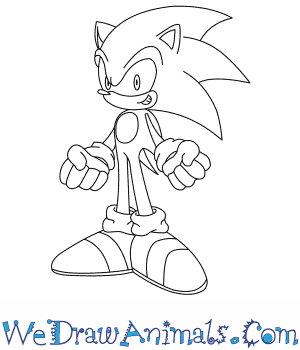 300x350 How To Draw Sonic The Hedgehog