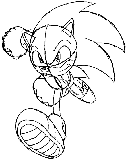 450x570 How To Draw Sonic The Hedgehog Running Drawing Lesson