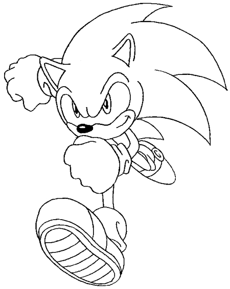 450x567 How To Draw Sonic The Hedgehog With Easy Step By Step Drawing