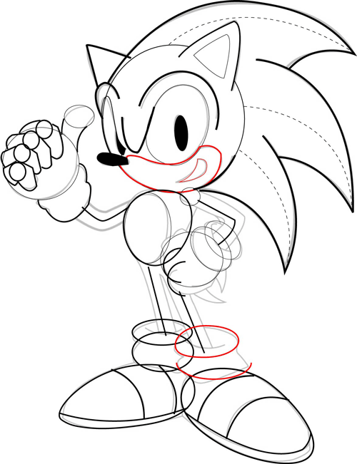 500x651 Step 6 Drawing Sonic The Hedgehog Step By Step Drawing Lesson