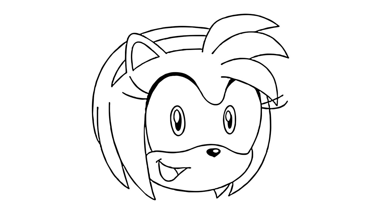1280x720 How To Draw Amy Rose From Sonic The Hedgehog
