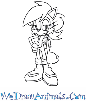 300x350 How To Draw Sally Acorn From Sonic The Hedgehog