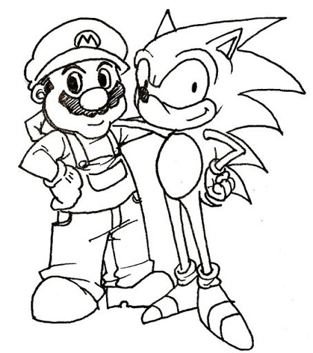 454x512 Sonic Coloring Pages Craft For Kids Birthdays
