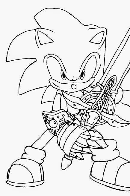 434x650 Sonic Hedgehog Coloring Book Pages Cartoon Sonic