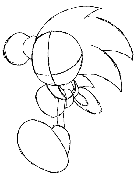 450x575 How To Draw Sonic The Hedgehog Running Drawing Lesson