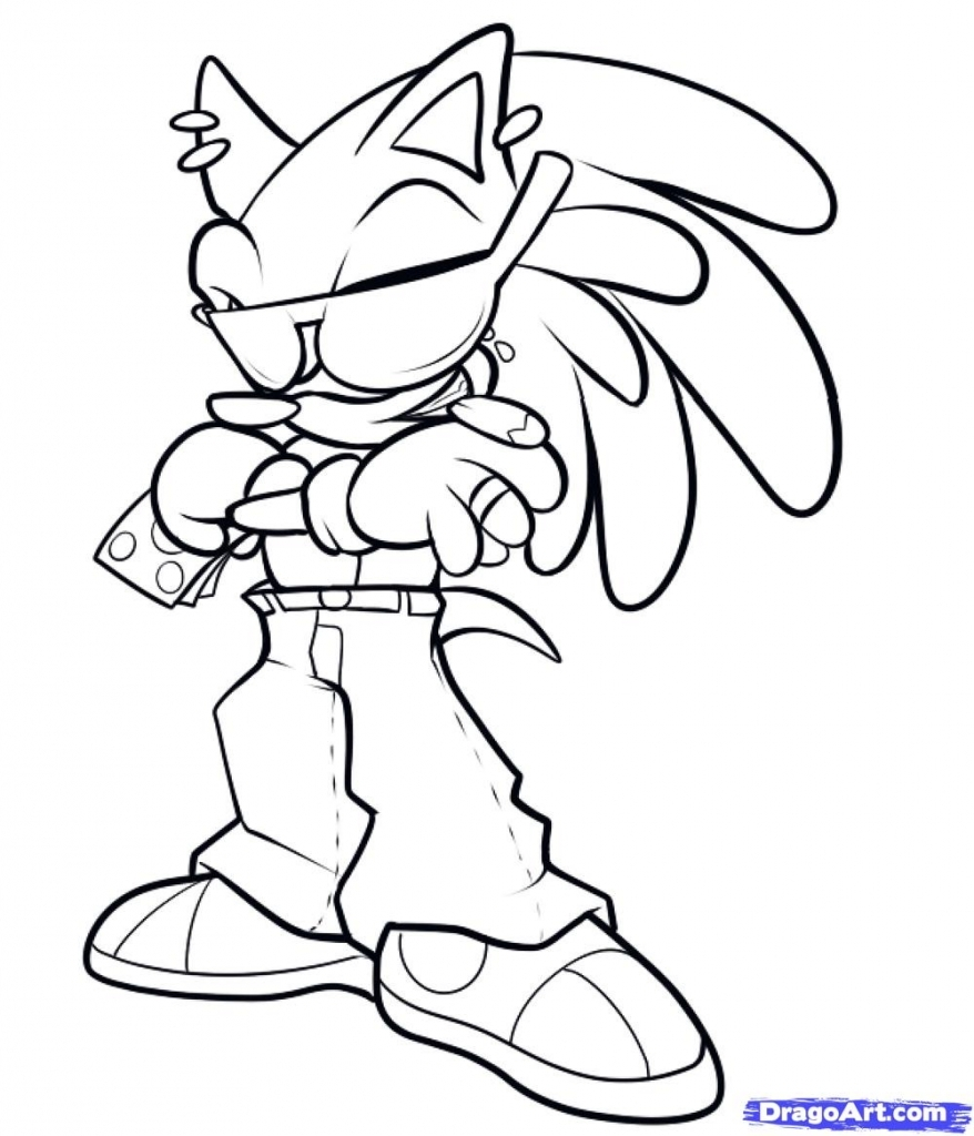 878x1024 How To Draw A Gangster How To Draw Gangster Sonic Step Step Video