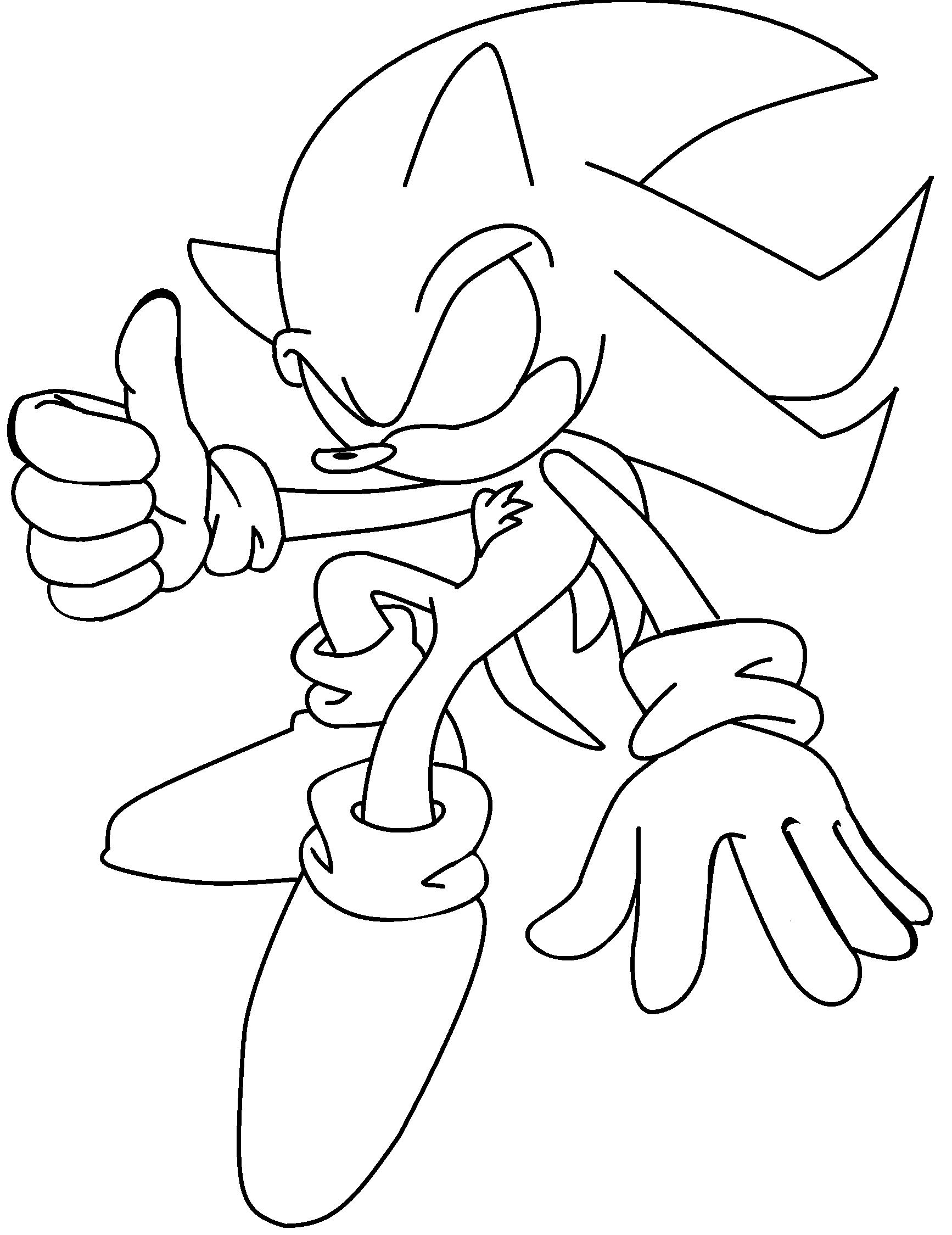 Perfecto Super Shadow The Hedgehog Para Colorear Imagen - Dibujos ...