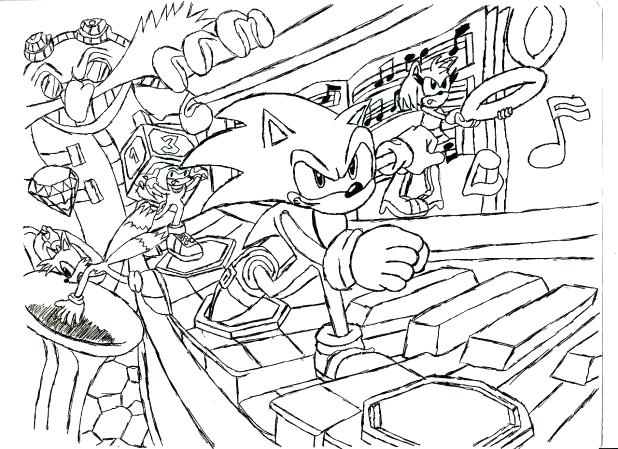 618x449 Shadow The Hedgehog Coloring Pages Play Games Sonic
