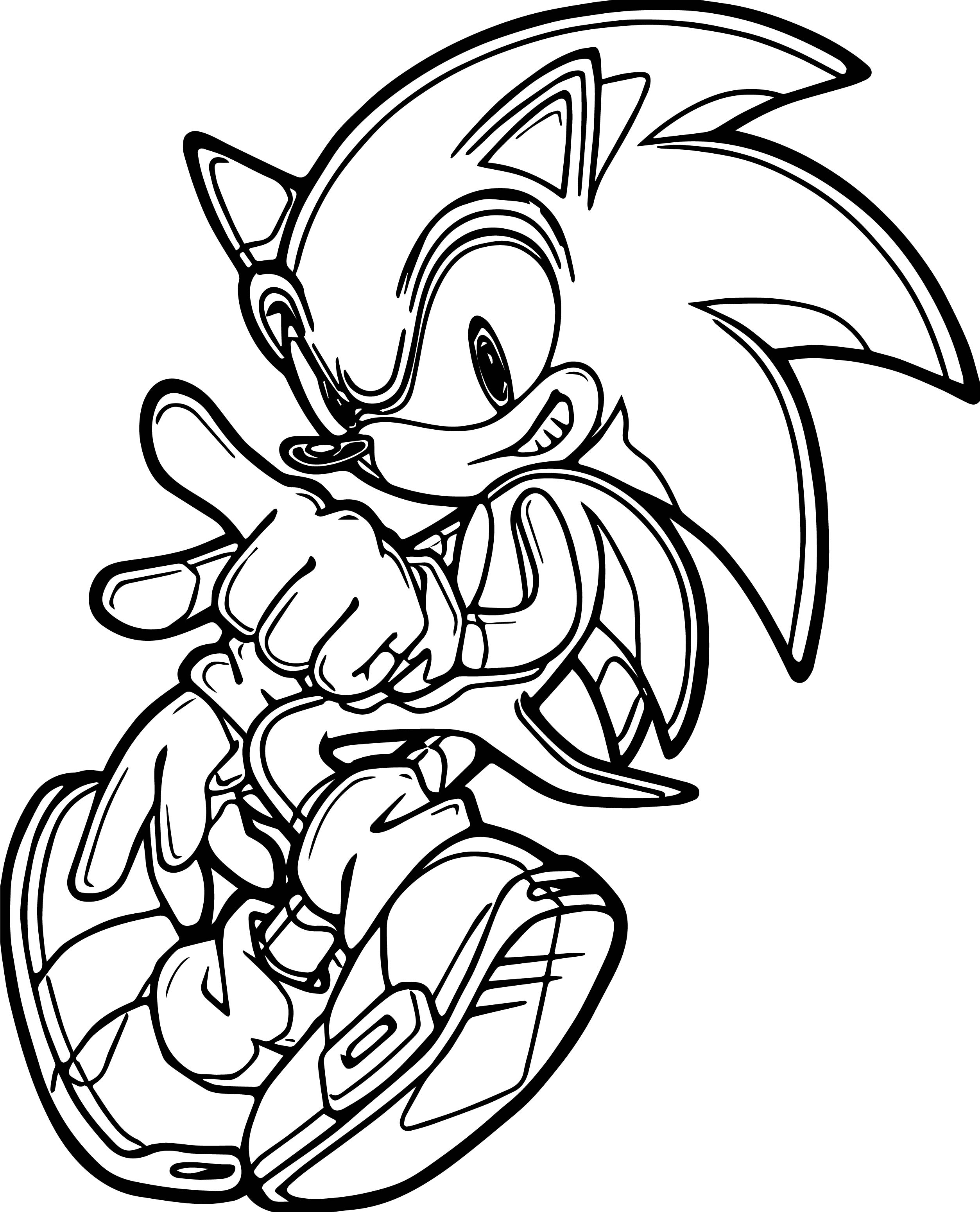 Sonic drawing pictures at free for for Super sonic the hedgehog coloring pages