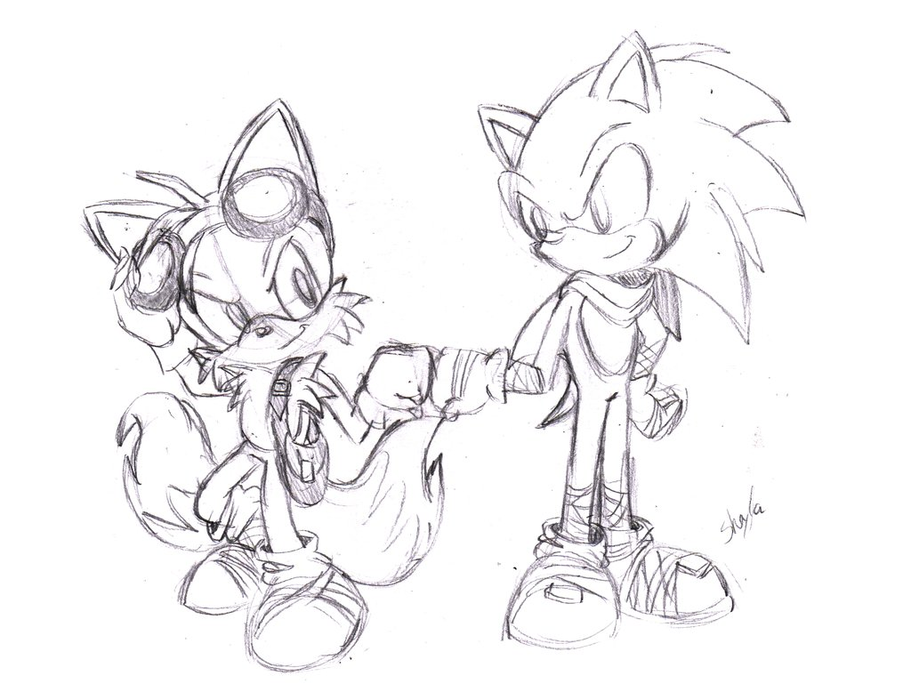 1024x787 Sonic And Tails Sonic Boom By