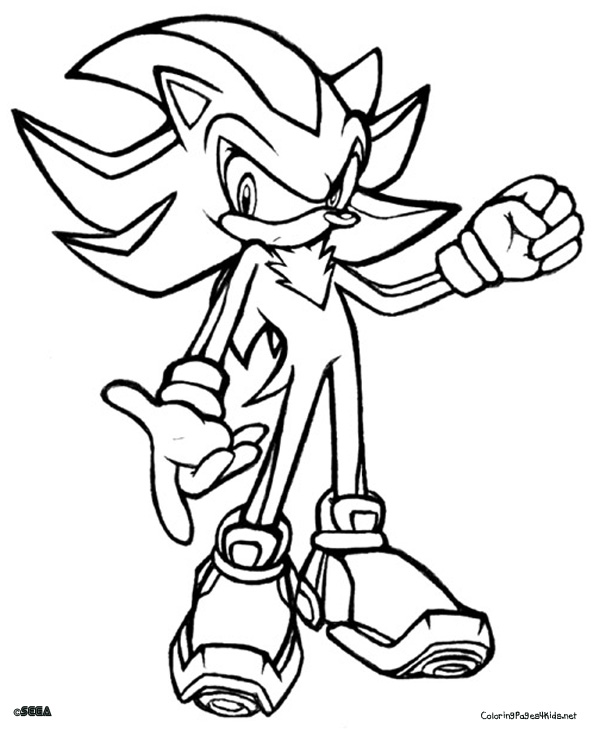 600x729 Sonic Shadow Coloring Pages Sonic Shadow Coloring Pages Free