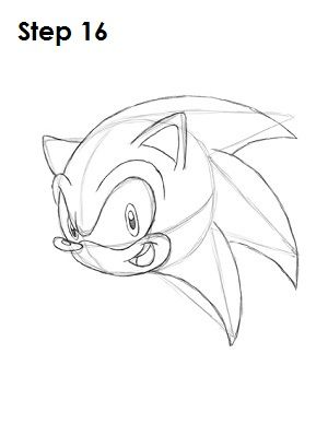 300x388 How To Draw Sonic The Hedgehog 17 Steps