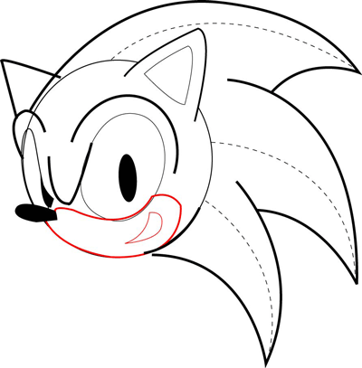 400x407 How To Draw Sonic The Hedgehog In Easy Drawing Tutorial