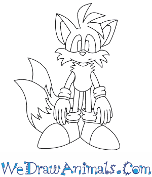 300x350 How To Draw Tails The Fox From Sonic The Hedgehog