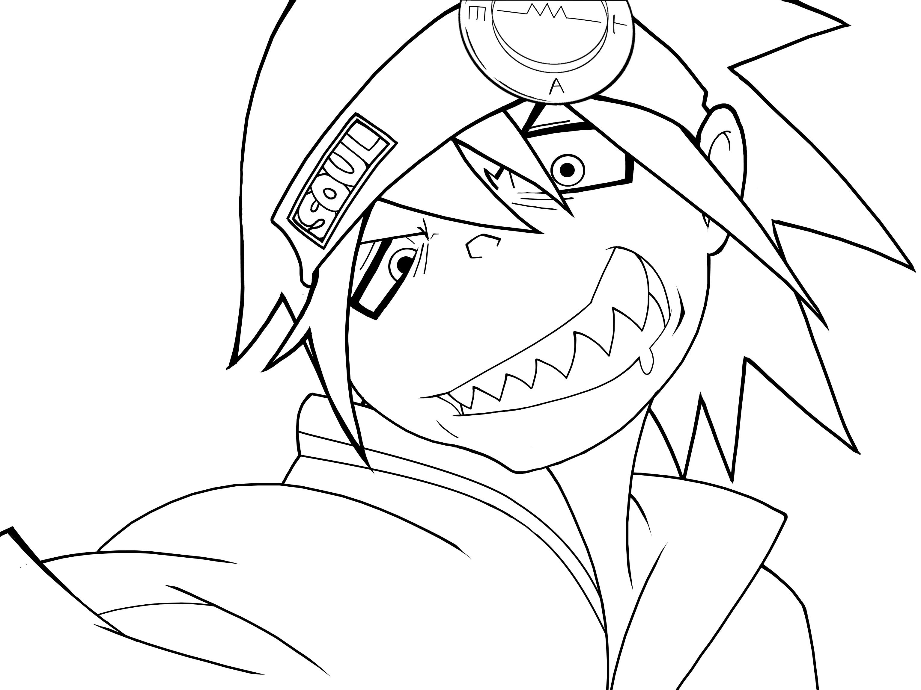 3072x2304 Soul Eater Evans Lineart By Kaerumiji Lineart Soul Eater